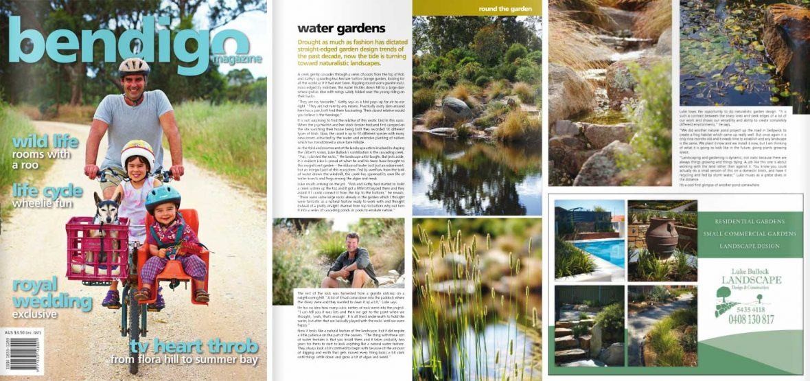 Bendigo Magazine Issue 22 Water gardens landscape design in Bendigo